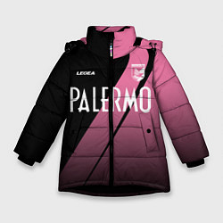 Куртка зимняя для девочки PALERMO FC цвета 3D-черный — фото 1