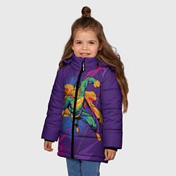 Куртка зимняя для девочки Superman цвета 3D-черный — фото 2