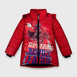 Куртка зимняя для девочки Justice League цвета 3D-черный — фото 1