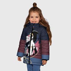 Куртка зимняя для девочки Диана Принс цвета 3D-черный — фото 2