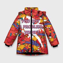 Куртка зимняя для девочки ЯГО цвета 3D-черный — фото 1