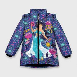 Куртка зимняя для девочки Принцесса Жасмин цвета 3D-черный — фото 1