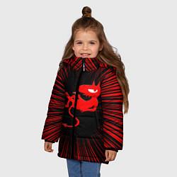 Куртка зимняя для девочки Disenchantment цвета 3D-черный — фото 2