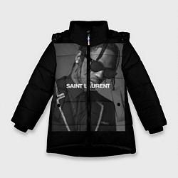 Куртка зимняя для девочки Travis Scott SL цвета 3D-черный — фото 1