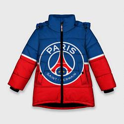 Куртка зимняя для девочки FC PSG цвета 3D-черный — фото 1