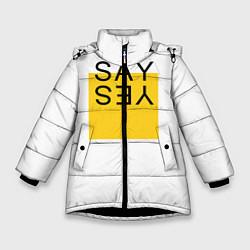 Куртка зимняя для девочки SAY YES цвета 3D-черный — фото 1
