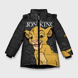 Куртка зимняя для девочки Король Лев цвета 3D-черный — фото 1