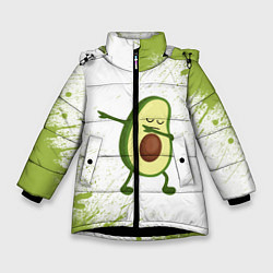 Куртка зимняя для девочки Авокадо цвета 3D-черный — фото 1