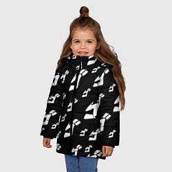 Куртка зимняя для девочки JoJo Bizarre Adventure цвета 3D-черный — фото 2