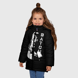 Куртка зимняя для девочки Бато цвета 3D-черный — фото 2