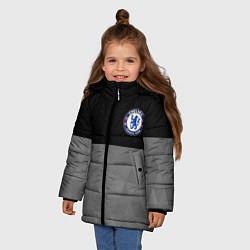 Куртка зимняя для девочки Chelsea London цвета 3D-черный — фото 2