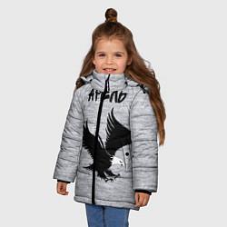Куртка зимняя для девочки Арёль цвета 3D-черный — фото 2