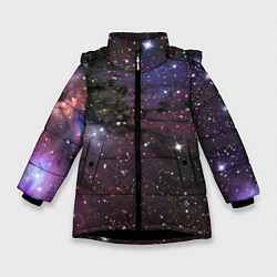 Куртка зимняя для девочки Галактика S цвета 3D-черный — фото 1