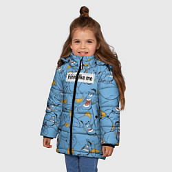 Куртка зимняя для девочки Friend like me цвета 3D-черный — фото 2
