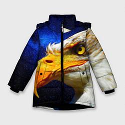 Детская зимняя куртка для девочки с принтом ОРЕЛ, цвет: 3D-черный, артикул: 10268867906065 — фото 1