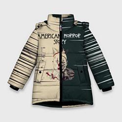Куртка зимняя для девочки American Horror Story цвета 3D-черный — фото 1