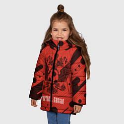 Куртка зимняя для девочки FOOTBALL RUSSIA Футбол цвета 3D-черный — фото 2