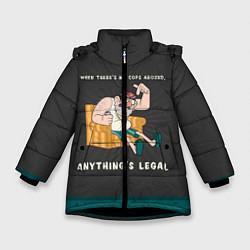Куртка зимняя для девочки Стенли Пайнс цвета 3D-черный — фото 1