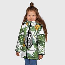 Куртка зимняя для девочки Обезьяна нежить цвета 3D-черный — фото 2