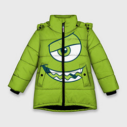 Куртка зимняя для девочки Mike Wazowski цвета 3D-черный — фото 1