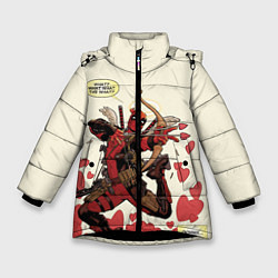 Детская зимняя куртка для девочки с принтом Deadpool, цвет: 3D-черный, артикул: 10275015906065 — фото 1