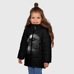 Детская зимняя куртка для девочки с принтом Орлан, цвет: 3D-черный, артикул: 10275111506065 — фото 2
