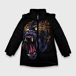 Куртка зимняя для девочки Горила Рёв цвета 3D-черный — фото 1