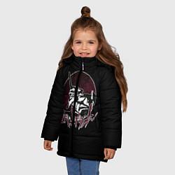 Куртка зимняя для девочки Evangelion цвета 3D-черный — фото 2