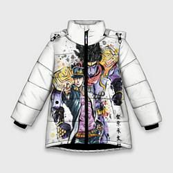 Куртка зимняя для девочки JOJO цвета 3D-черный — фото 1