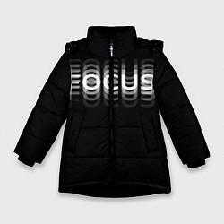 Куртка зимняя для девочки Пьяный Z цвета 3D-черный — фото 1
