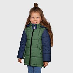 Куртка зимняя для девочки Ниндзя NARUTO на спине цвета 3D-черный — фото 2