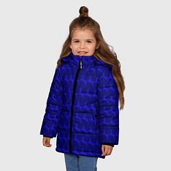 Куртка зимняя для девочки Олени, deer цвета 3D-черный — фото 2