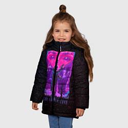 Куртка зимняя для девочки Бегущий по лезвию цвета 3D-черный — фото 2