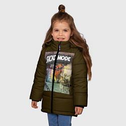 Куртка зимняя для девочки Travis scott sicko mode цвета 3D-черный — фото 2