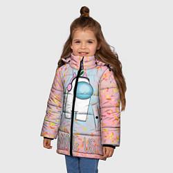 Куртка зимняя для девочки Among Us Девочкам цвета 3D-черный — фото 2