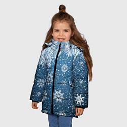 Куртка зимняя для девочки Снежное Настроенние цвета 3D-черный — фото 2