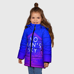 Куртка зимняя для девочки NO MANS SKY цвета 3D-черный — фото 2