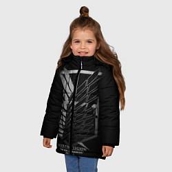 Куртка зимняя для девочки Атака Титанов 2 цвета 3D-черный — фото 2