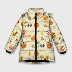 Куртка зимняя для девочки Время есть! цвета 3D-черный — фото 1