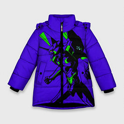 Детская зимняя куртка для девочки с принтом Евангилион, цвет: 3D-черный, артикул: 10284104706065 — фото 1