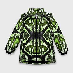 Куртка зимняя для девочки Green Snake цвета 3D-черный — фото 1