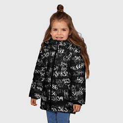 Куртка зимняя для девочки Минус семь цвета 3D-черный — фото 2
