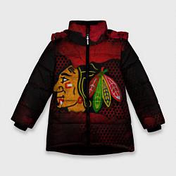 Куртка зимняя для девочки CHICAGO NHL цвета 3D-черный — фото 1