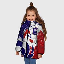 Куртка зимняя для девочки Сборная Франции цвета 3D-черный — фото 2