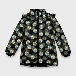 Куртка зимняя для девочки Волейбол цвета 3D-черный — фото 1