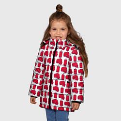 Куртка зимняя для девочки KickBoxing цвета 3D-черный — фото 2