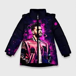 Куртка зимняя для девочки The Weeknd цвета 3D-черный — фото 1