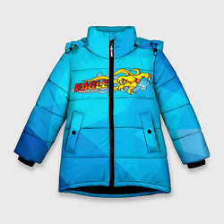 Куртка зимняя для девочки Eagle Орел цвета 3D-черный — фото 1