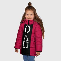 Куртка зимняя для девочки Ojingeo geim - Стражи цвета 3D-черный — фото 2