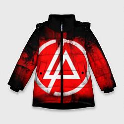 Куртка зимняя для девочки Linkin Park: Red style цвета 3D-черный — фото 1